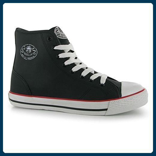 Dunlop Damen Micro High Top Sneaker Turnschuhe Freizeit Sport Schuhe Schnuerschuh Schwarz 5 (38) - Sneakers für frauen (*Partner-Link)