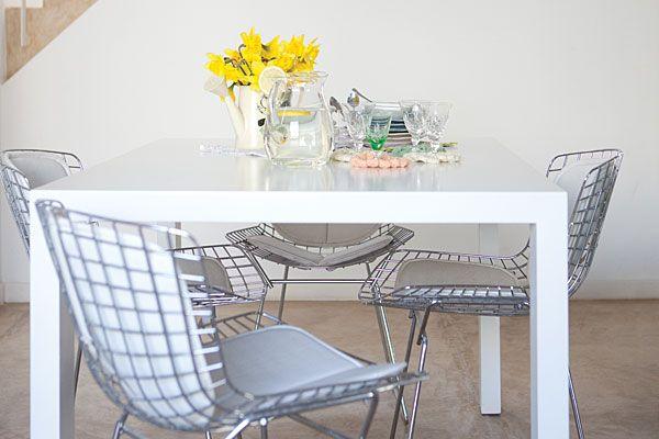 Bertoia dining chairs