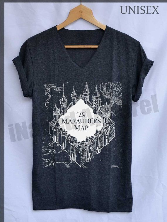 Marauders Map Hogwarts Shirts Harry