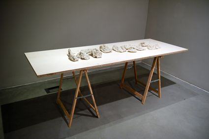 Sérgio Costa: Works - Strata tridimensional molds (exhibition view, Galeria Carlos Carvalho), 2014  variable dimensions  photo: Pedro Melo