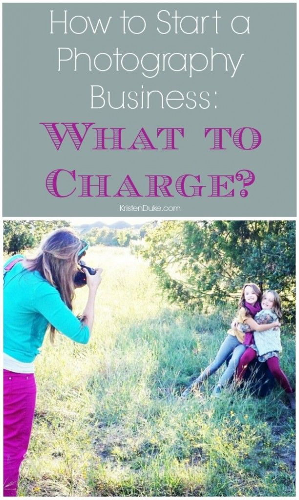 How to figure out what to charge for photography sessions.