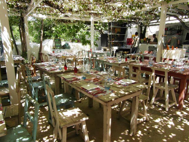 Ibiza, openluchtrestaurant