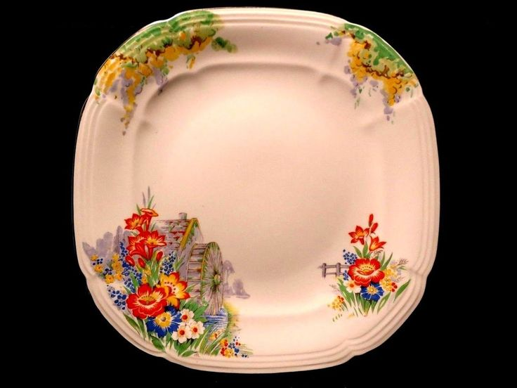 "Salad Plate 8 3/4"" Alfred Meakin Ironstone ROYAL MARIGOLD Flowers Vintage China"