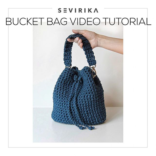 Dream of Sevirika design bucket bag? Ta-da🎉🎉🎉 Make it yourself! As easy as ABC with my step-by-step video tutorial! It's already available in my etsy shop, link in bio☝ Oh yes, if you need bright color, 100% cotton t-shirt yarn to make a bag, you'll find it in my etsy shop too, welcome! ______________ #trapillo #tshirtyarn #ganchillo #tejer #crochetbag #crochetaddict #crochetvideo #örgüsept #crochetersofig #crochetpattern