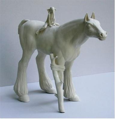 tricia clineCeramics Animal, Sculpture Ceramics, Cline Sculpture, Equine Sculpture, Ceramics Art, Tricia Cline, Clay Probs Stones, Cline Equine, Escultura Sculpture