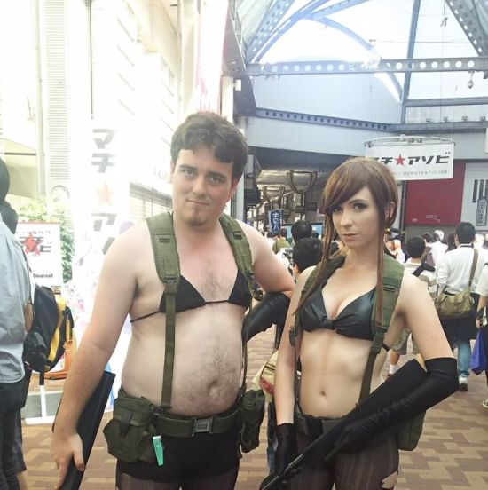 "Palmer Luckey cosplays as Metal Gear's Quiet in Japan  Friday has already been amazing<p>Oculus founder Palmer Luckey has been keeping a low profile since leaving Facebook, but the 24-year-old VR magnate has surfaced under fascinating circumstances. He's in Japan. Cosplaying as the <i>Metal Gear V</i> character Quiet ... as one does.<p>""Been secretly cosplaying for …  https://www.polygon.com/2017/5/5/15555826/palmer-luckey-quiet-cosplay"