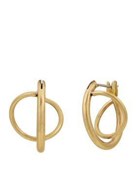 Lucky Brand Women Gold-Tone Twisted Mini Hoop Earrings - Gold - One Size