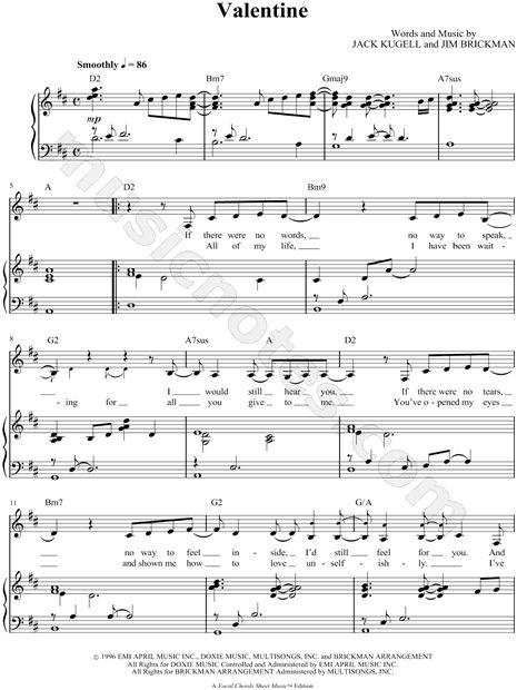 valentine chords martina mcbride