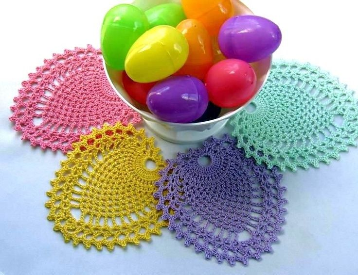 Crochet Patterns Easter : ... Crochet Easter, Crochet Coaster, Free Crochet, Crochet Doily Patterns