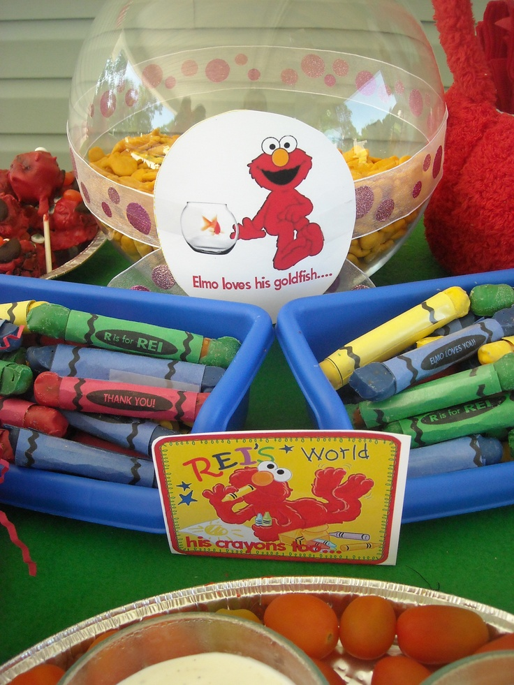 crayons are a great idea for your guests elmo party theme favors and just add a elmo or sesame street colouring page you find printable elmo colouring in