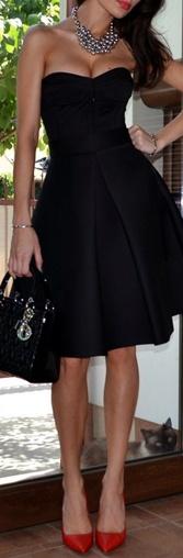 Zara black dress #sexy #strapless