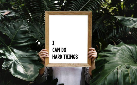 I Can Do Hard Things Affirmation Wall Art Positive Etsy Affirmation Posters Positive Affirmations Quotes Positive Affirmations
