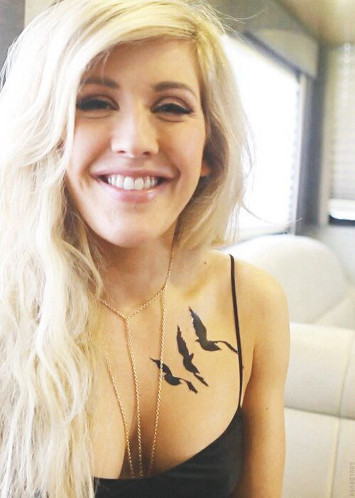 ellie goulding with Tris tattoo oh my goshhhh