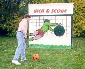 Carnival game ... Kick & Score.  Easy to make!
