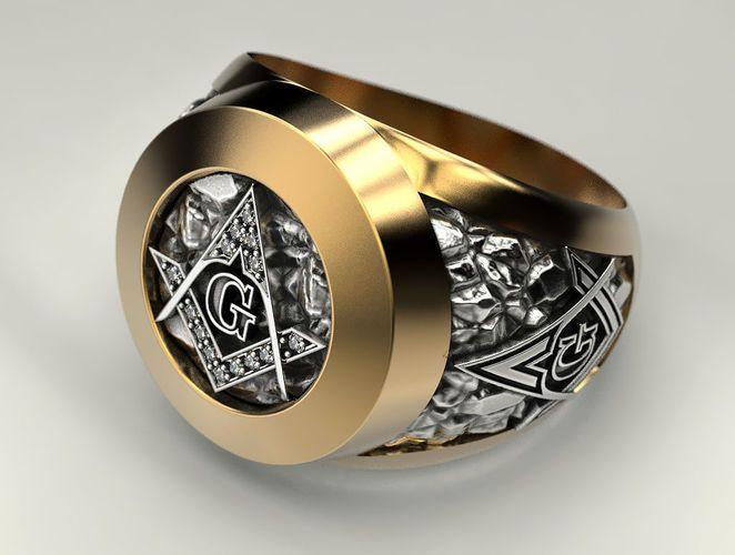 Mason Man Ring 2 3d Print Model In 2020 Rings For Men Masonic
