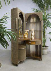 French vintage rare velvet dressing table vanity table kaptafel capsule 'Boudoir stijl'