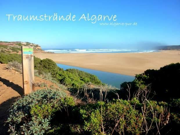 Traumstrände Algarve: Praia da Bordeira www.algarve-pur.de