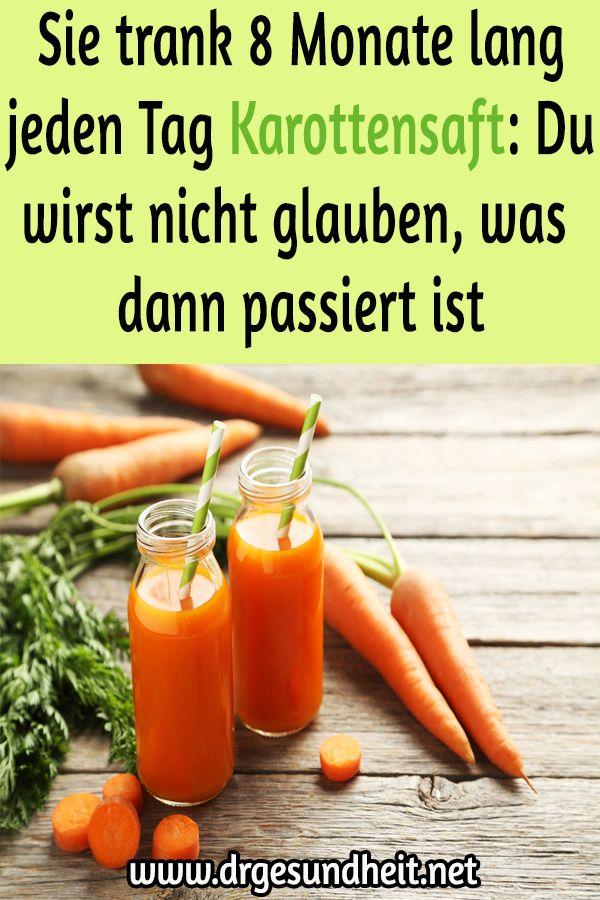 Jeden Tag Karottensaft