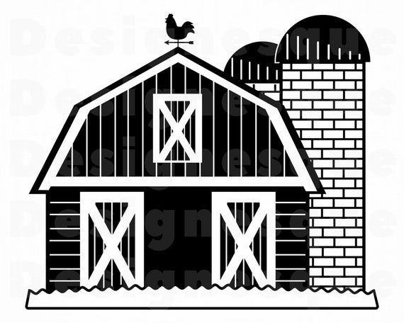 Barn Svg Farm Barn Svg Farm Svg Barn Clipart Barn Files Etsy In 2021 Farm Barn Farm Animal Coloring Pages Barn