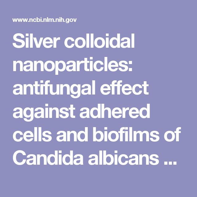 Silver colloidal nanoparticles: antifungal effect against adhered cells and biofilms of Candida albicans and Candida glabrata.  - PubMed - NCBI