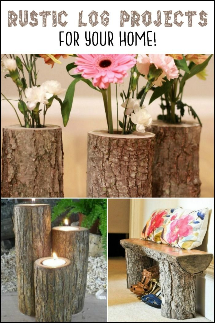 Add Warmth To Your Home With These Rustic Log Decor Ideas!