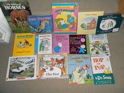 Letter H Books- om als huiswerk mee te geven in het eerste leerjaar: zoek boeken met de letter die we geleerd hebben