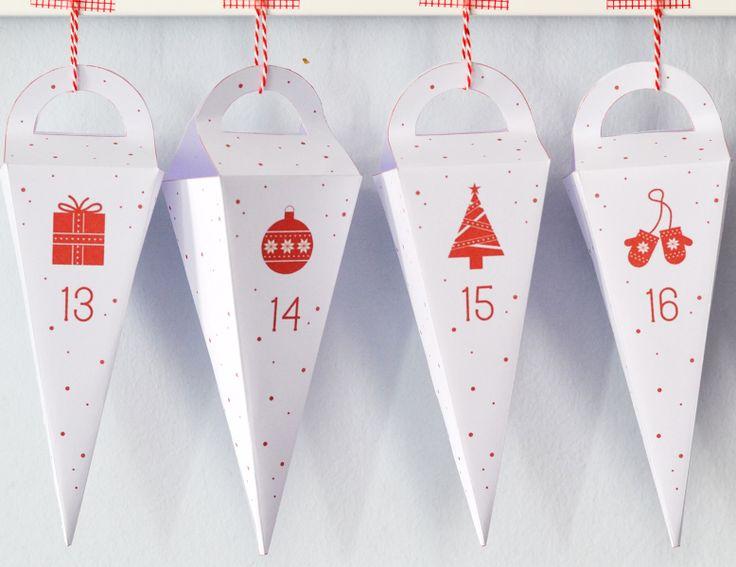 Calendrier de l'avent à imprimer - Blog Pluie de confettis