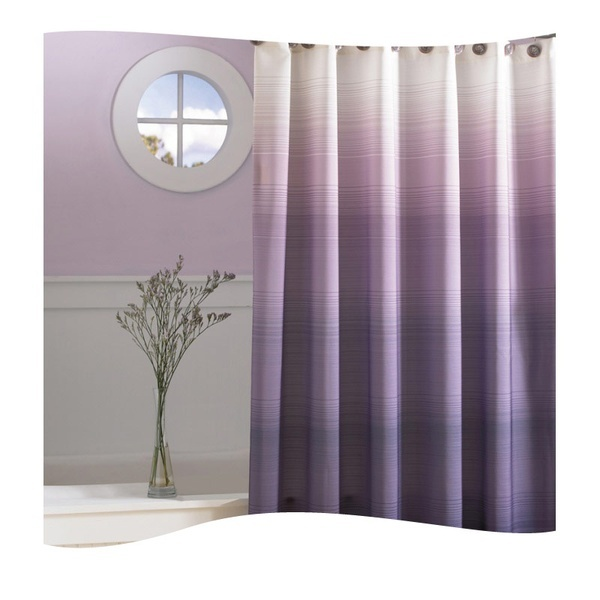 Soothing lavender colors make this bathroom peaceful and tranquil. #AnnasLinens #Lavendar