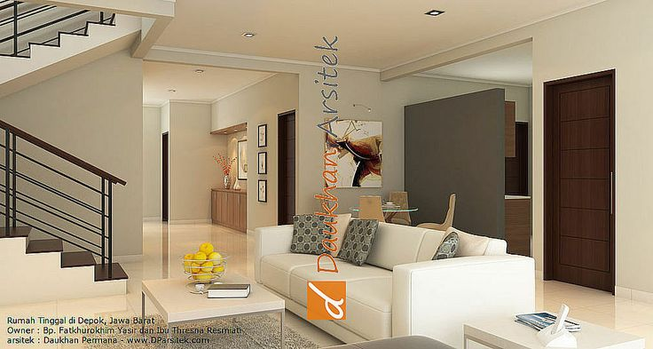 Sketsa 3D Interior Ruang Keluarga Rumah Minimalis di Depok Jawa Barat #arsitek dan #interior by www.DParsitek.com
