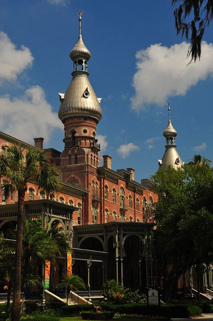 South wing of Plant Hall at the University of Tampa, home of the Henry B. Plant Museum