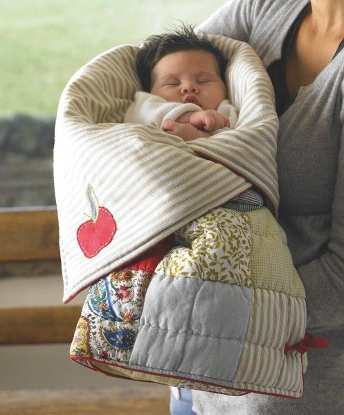 Sleeping bag that unzips to a play mat for a baby. Cute baby shower idea. :)