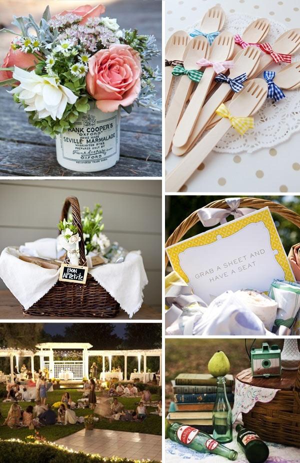 wedding inspiration, picnic inspiration