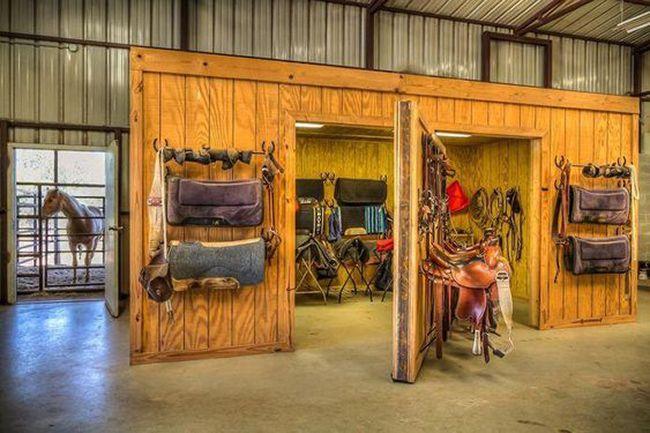 Barn Details Rotating Tack Room Doors Stable Style Tack Room Horse Tack Rooms Horse Barn Designs