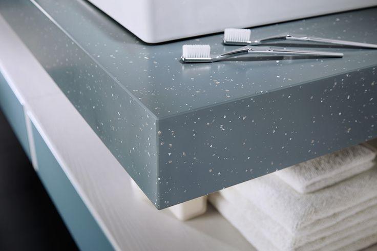 100mm mineral slate geo solid surface bathroom worktop #geo #bathroomfurniture #myutopia