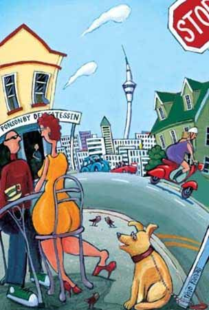 Ponsonby Pooch by Timo Rannali for Sale - New Zealand Art Prints
