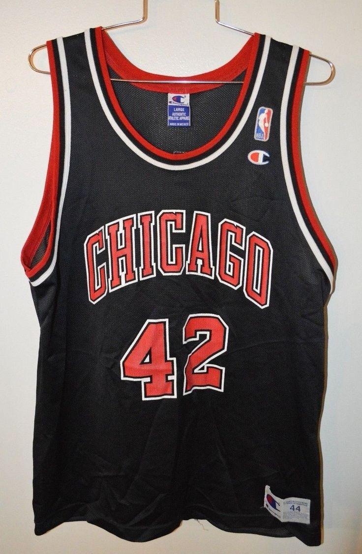Rare Vintage Chicago Bulls NBA Champion Elton Brand #42 Jersey Men 44 L Jordan please retweet