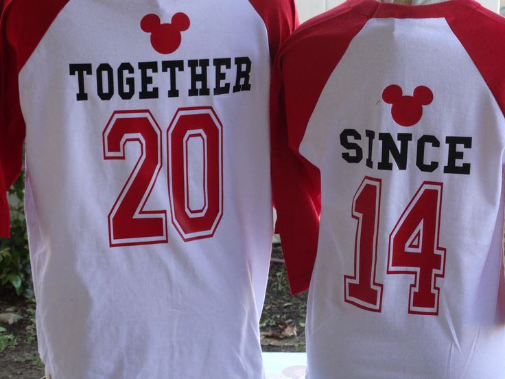 Free Shipping Disney Inspired Couples Baseball TShirts His and Hers Together Since Shirts by DsWishingWell on Etsy https://www.etsy.com/listing/204702555/free-shipping-disney-inspired-couples