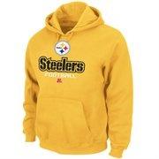 Pittsburgh Steelers Gold Critical Victory V Hoodie Sweatshirt