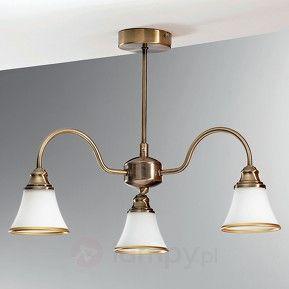 3-punktowa lampa sufitowa TILDA, stary mosiądz