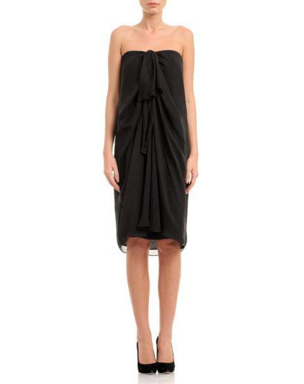 Strapless Silk Chiffon Dress @StraplessDress #Silk #Chiffon #Dress