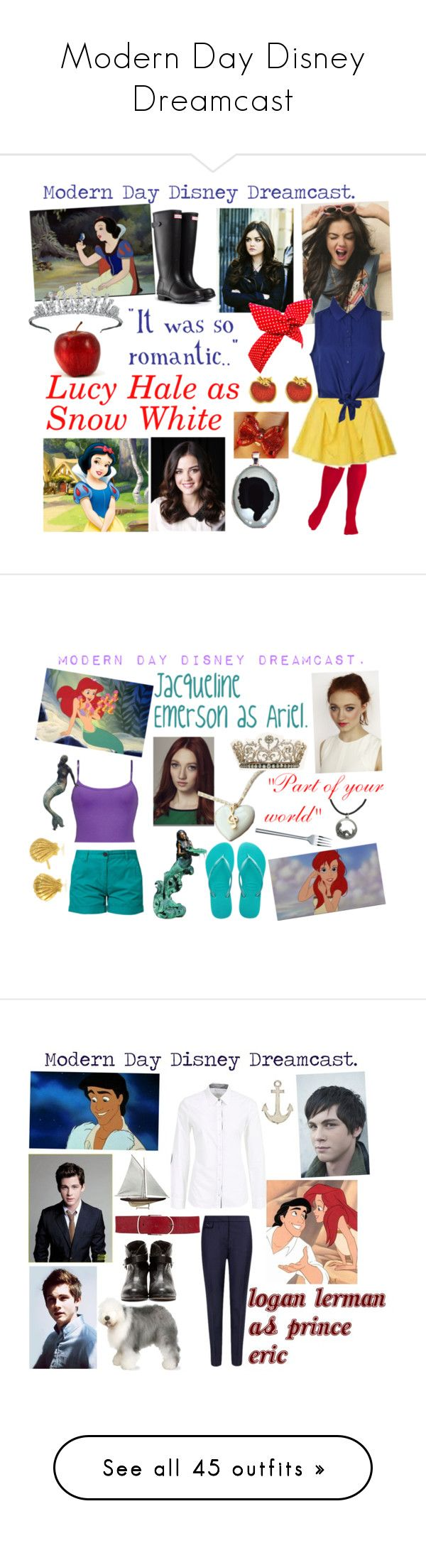 """""""Modern Day Disney Dreamcast"""" by iluvepeeta ❤ liked on Polyvore featuring Wildfox, Hunter, Van Cleef & Arpels, Disney Couture, Disney, modern, Emerson, BKE, MKT studio and Havaianas"""