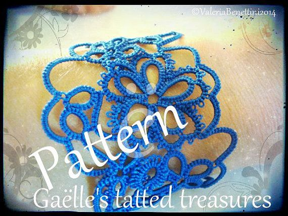 Tat-too bracelet original design tatting by gaestattedtreasures