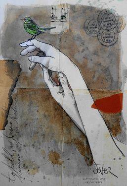 "Saatchi Art Artist Loui Jover; Drawing, ""little memories"" #art"