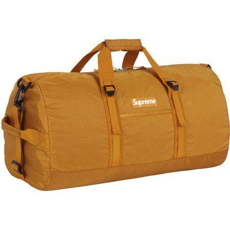 SUPREME GOLD DUFFLE BAG #GOLD #BAG #SUPREME #PIFF #PIFFMPLS