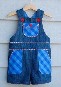 Free pattern: Shortalls with piped patch pockets · Sewing | CraftGossip.com http://www.mediafire.com/download/cdu8gq008owvwi0/Overalls.pdf  Boys and Girls By Rae.!!