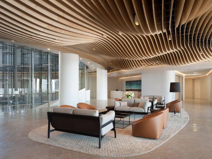 Organic ceiling design at Clayton Utz, Sydney workplace / Bates Smart