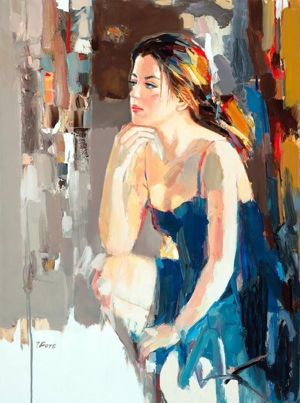 Josef Kote...I just love the way the artist has caught the sun hitting her hair
