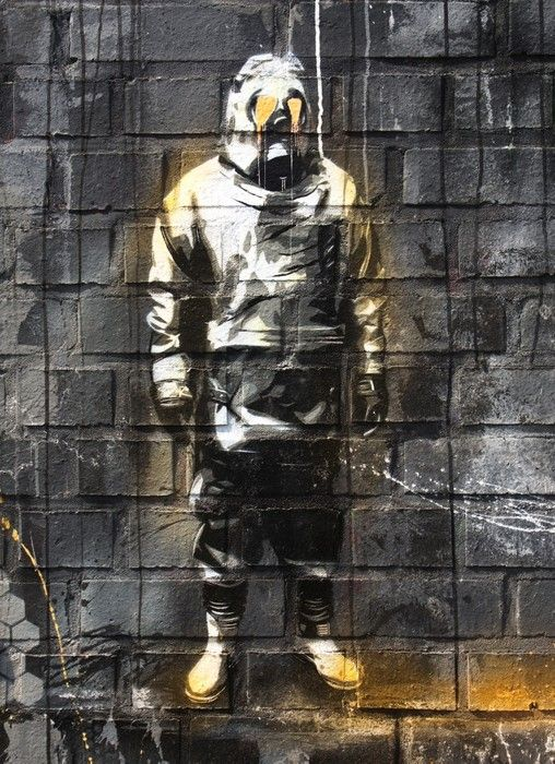 The protective suit Painting from $39.99 | www.wallartprints.com.au #GraffitiArt