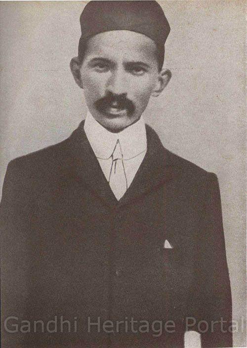 Mahatma Gandhi in 1900.