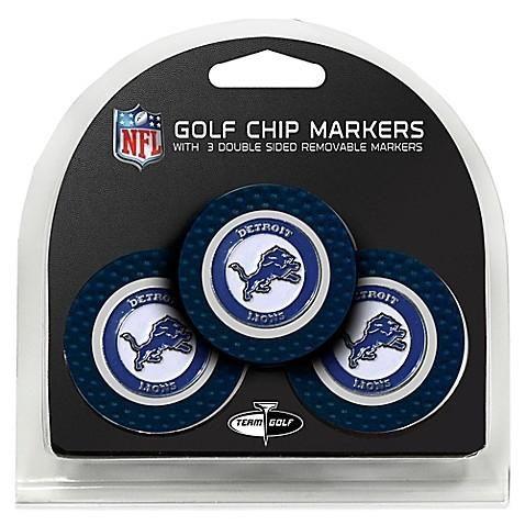 NFL Team Golf Detroit Lions Golf Chip Markers